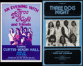 "Movie Posters:Rock and Roll, Three Dog Night Poster Lot (Various, 1970s). Concert Window Cards(2) (14"" X 20"" & 13.5"" X 21.25""). Rock and Roll.. ... (Total: 2Items)"