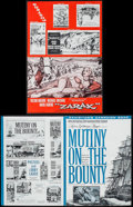 "Movie Posters:Adventure, Mutiny on the Bounty & Others Lot (MGM, 1962). Pressbooks (25)(Multiple Pages, 10.75"" X 15"" - 14"" X 19"") & Press Materials... (Total: 27 Items)"