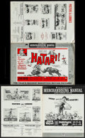 "Movie Posters:Adventure, Hatari! & Others Lot (Paramount, 1962). Uncut Pressbooks (11)(Multiple Pages, 12.25"" X 18.75""), Cut Ad Slick (12"" X 15""),&... (Total: 13 Items)"