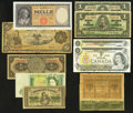 Canadian Currency: , Canada and World Notes.. ... (Total: 11 notes)