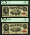 A Pair of Fr. 60 $2 1917 Legal Tender Notes PCGS Apparent Very Fine 20