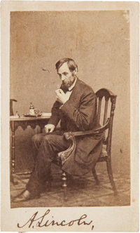 Abraham Lincoln: Outstanding Signed Carte-de-Visite