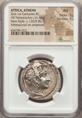Ancients:Greek, Ancients: ATTICA. Athens. Ca. 165-42 BC. AR New Style tetradrachm(16.54 gm)....