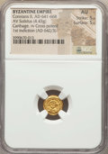 Ancients:Byzantine, Ancients: Constans II (AD 641-668). AV Solidus (4.43 gm). ...