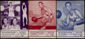 Basketball Collectibles:Programs, 1957-59 New York Knicks Programs Lot of 3....