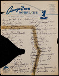 Football Collectibles:Others, 1950 Chicago Bears Team Signed Sheet....