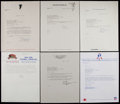 Football Collectibles:Others, NFL Execs and More Signed Letters Lot of 13....