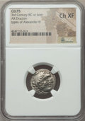 Ancients:Celtic, Ancients: DANUBIAN CELTS. Imitating Alexander. Ca. 3rd-2ndcenturies BC. AR drachm....