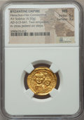 Ancients:Byzantine, Ancients: Heraclius, with Heraclius Constantine (AD 613-641). AVsolidus (4.50 gm)....