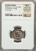 Ancients:Roman Imperial, Ancients: Maximinus I Thrax (AD 235-238). AR denarius (2.86 gm)....