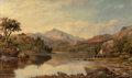19th Century European:Landscape, George F. Buchanan (British, 1800-1864). River Scene withTrows. Oil on canvas. 24-1/4 x 42-1/4 inches (61.6 x 107.3cm)...