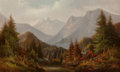 Fine Art - Painting, European:Antique  (Pre 1900), Peter Hanson (American, 1821-1887). View of the Mountains, 1877. Oil on canvas. 22 x 36 inches (55.9 x 91.4 cm). Signed,...