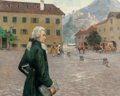 Fine Art - Painting, European:Modern  (1900 1949)  , Otto Robert Nowak (Austrian, 1874-1945). The Young Mozart in Salzburg. Oil on canvas. 32 x 39-1/2 inches (81.3 x 100.3 c...