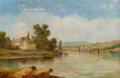 Paintings, Alfred Vickers (British, 1786-1868). Sailing in the Lake District. Oil on canvas. 20-1/4 x 30 inches (51.4 x 76.2 cm). S...