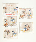 "Animation Art:Production Drawing, Tom Wood Good Housekeeping April 1940 ""Billposters""Illustration Donald Duck Original Art (Good Housekeeping, 1940..."