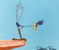 Animation Art:Production Cel, Chariots of Fur Road Runner Production Cel (Warner Brothers,1994)....