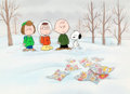 Animation Art:Production Cel, The Charlie Brown and Snoopy Show Production Cel (BillMelendez, 1983)....