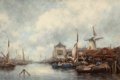 Fine Art - Painting, European:Antique  (Pre 1900), Hermanus Koekkoek (Dutch, 1836-1909). On the MeerwedeHolland. Oil on panel. 20-1/4 x 30 inches (51.4 x 76.2 cm).Signed...