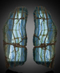 Lapidary Art:Lamps, Blue Calcite Wall Sconces. Andes Mountains.Argentina. South America . ... (Total: 2 Items)