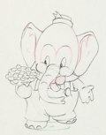 Animation Art:Production Drawing, Elmer Elephant Production Drawing (Walt Disney, 1936). ...