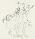 Animation Art:Production Drawing, Mickey in Arabia Mickey and Minnie Mouse Production Drawing(Disney, 1932)....