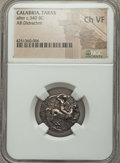 Ancients:Greek, Ancients: CALABRIA. Tarentum. Ca. 340 BC. AR didrachm or nomos. ...