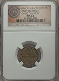Civil War Tokens, (1861-65) 2nd Regiment, Ohio Cavalry, OH 2a-5B, R.6, MS63 NGC. ...