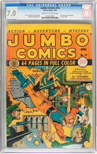 Jumbo Comics #14 (Fiction House, 1940) CGC FN/VF 7.0 Cream to off-white pages