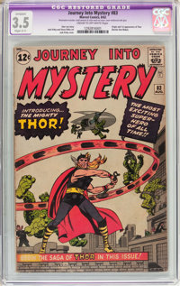 Journey Into Mystery #83 (Marvel, 1962) CGC Apparent VG- 3.5 Slight (C-1) Cream to off-white pages