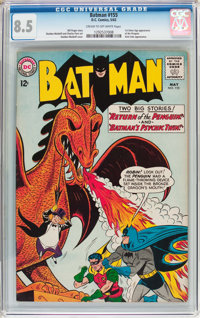 Batman #155 (DC, 1963) CGC VF+ 8.5 Cream to off-white pages