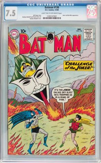 Batman #136 (DC, 1960) CGC VF- 7.5 Light tan to off-white pages
