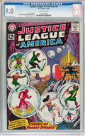 Silver Age (1956-1969):Superhero, Justice League of America #16 (DC, 1962) CGC VF/NM 9.0 Off-white pages....