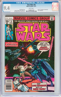 Star Wars #6 (Marvel, 1977) CGC NM 9.4 White pages