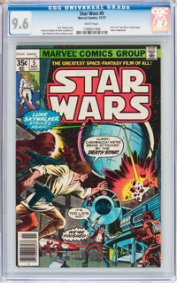 Star Wars #5 (Marvel, 1977) CGC NM+ 9.6 White pages