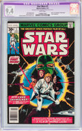 Bronze Age (1970-1979):Superhero, Star Wars #1 (Marvel, 1977) CGC Apparent NM 9.4 Slight (C-1) White pages....