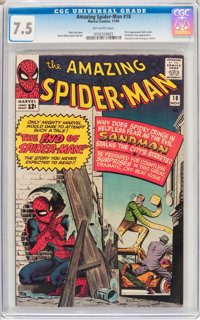 The Amazing Spider-Man #18 (Marvel, 1964) CGC VF- 7.5 Off-white pages
