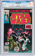 Bronze Age (1970-1979):Science Fiction, Star Wars #4 (Marvel, 1977) CGC VF+ 8.5 White pages....
