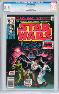 Star Wars #4 (Marvel, 1977) CGC VF+ 8.5 White pages