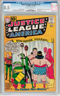 Silver Age (1956-1969):Superhero, Justice League of America #7 (DC, 1961) CGC VF+ 8.5 Cream to off-white pages....