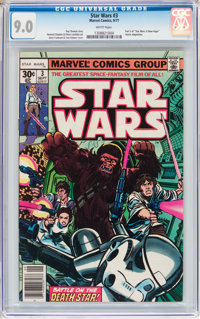 Star Wars #3 (Marvel, 1977) CGC VF/NM 9.0 White pages