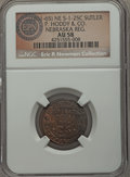 Civil War Tokens, (1861-65) P. Hoddy & Co, Nebraska Regiment, NE 1-25C, R.7, AU58NGC. ...