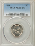 Jefferson Nickels, 1938 5C MS66+ Full Steps PCGS. PCGS Population: (222/38 and 14/12+). NGC Census: (0/0 and 0/0+). CDN: $120 Whsle. Bid for N...