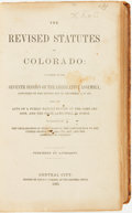 Books:Reference & Bibliography, [E.T. Wells]. The Revised Statutes of Colorado: As Passed at theSeventh Session of the Legislative Assembly, Convened o...