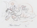 Animation Art:Production Drawing, Fred's Welcome The Flintstones Limited Edition SericelPreliminary Sketch (Hanna-Barbera, 1993)....