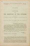 Books:Americana & American History, [Colorado]. Ute Indians. Letter from the Secretary of theInterior, in relation to an agreement concluded with the UteI...