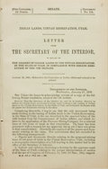 Books:Americana & American History, [American History]. Indian Lands, Uintah Reservation, Utah.Letter from the Secretary of the Interior, in Regard to the ...