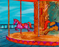 Animation Art:Painted cel background, The Perils of Penelope Pitstop Production Background(Hanna-Barbera, 1969)....
