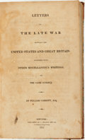 Books:Americana & American History, William Cobbett. Letters on the Late War Between the UnitedStates and Great Britain: Together with Other Miscellaneous ...