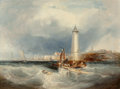 Fine Art - Painting, European:Antique  (Pre 1900), William Callow (British, 1812-1908). Off the Brittany Coast.Oil on canvas. 23-3/4 x 32 inches (60.3 x 81.3 cm). Signed ...