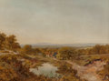 Fine Art - Painting, European:Antique  (Pre 1900), Edmund John Niemann (British, 1813-1876). Landscape near Yeaveley, Derbyshire. Oil on canvas. 30-1/4 x 40-1/4 inches (76...